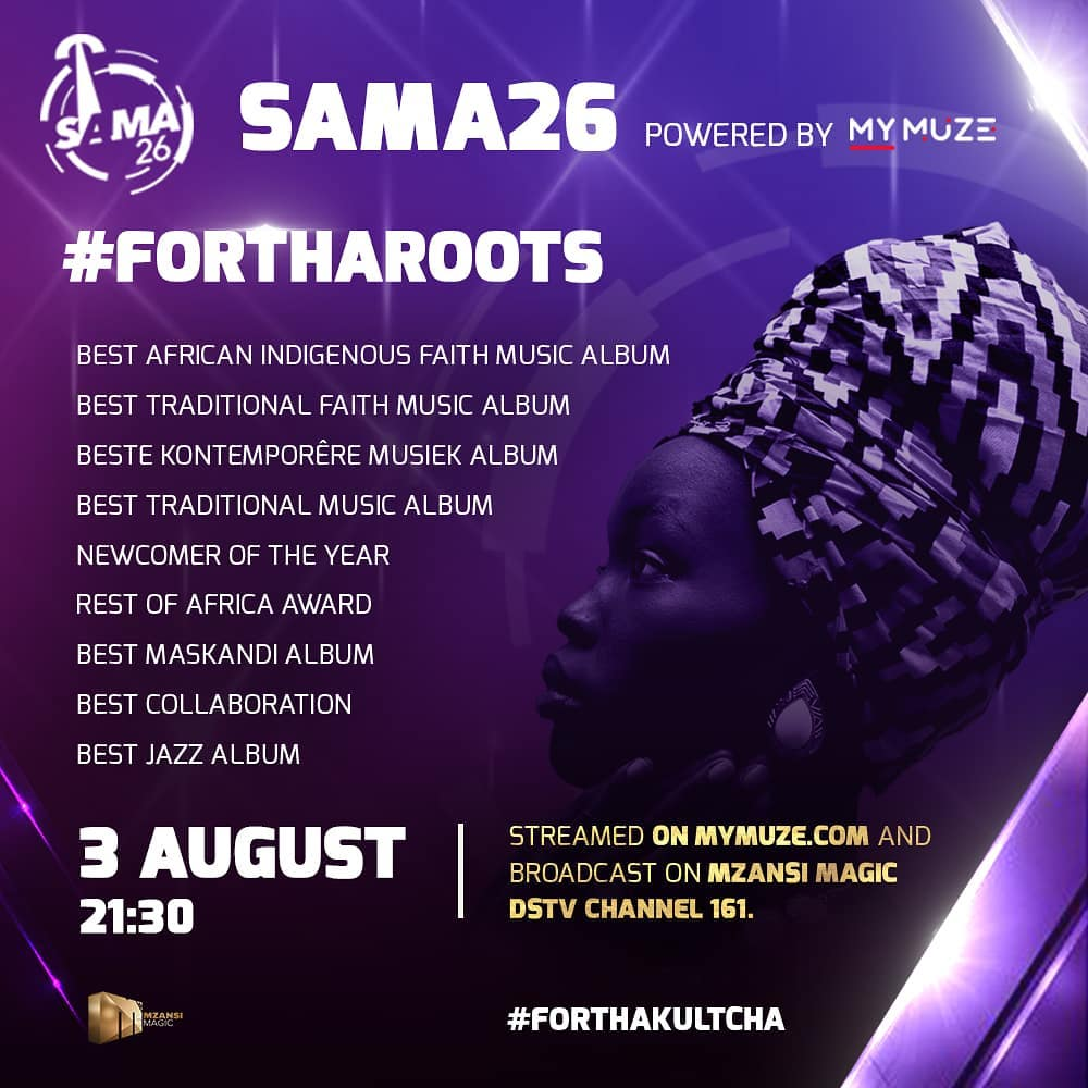 South African Music Awards (#SAMA 26) 2020 Winners So Far.