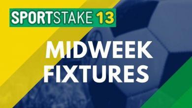 Sportstake 13 Midweek Fixtures