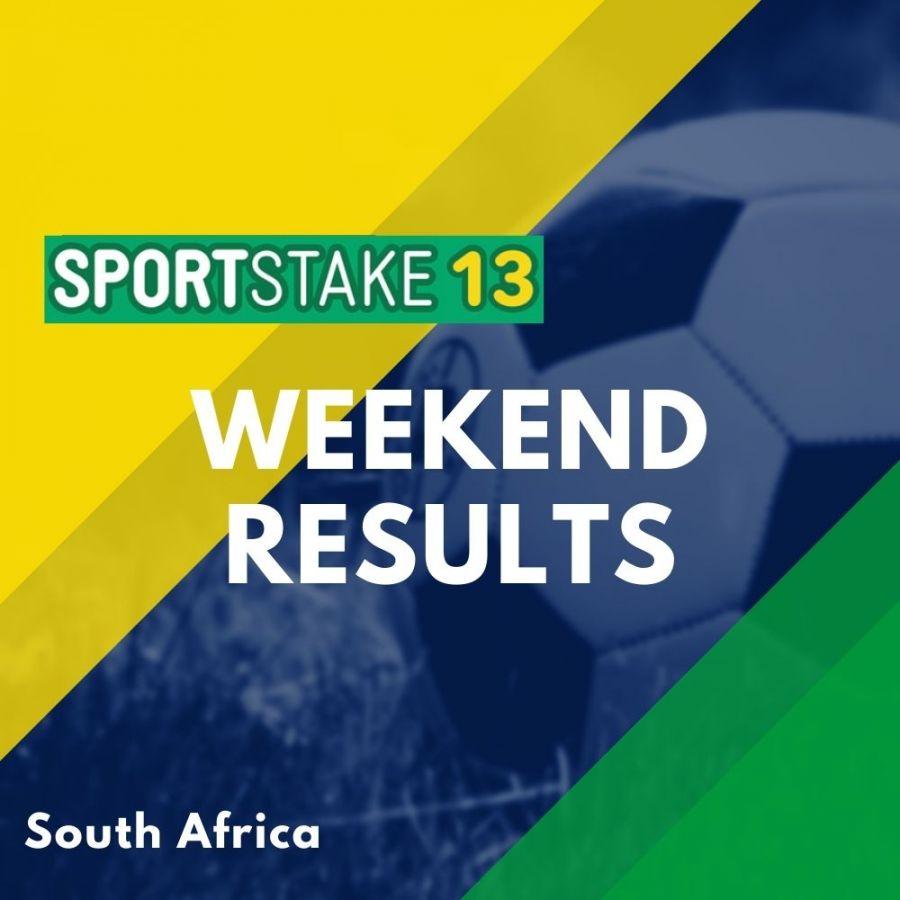 Sportstake 13 Weekend Results