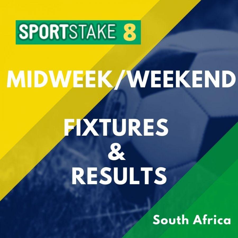 Sportstake 8 Midweek/Weekend Fixtures & Results