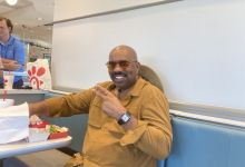 Steve Harvey's Pocket Steals The Show While Hanging With Kanye West