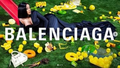 Cardi B Glitters In Balenciaga Winter Ad Campaign