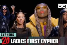 "Photo of Brandy, Erykah Badu, Teyana Taylor, H.E.R.'s Empowering ""Ladies First"" BET Hip Hop Awards Cypher"