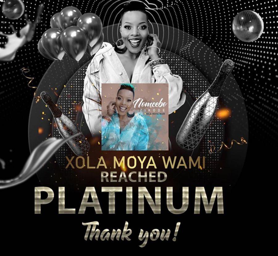 "Nomcebo Album Lead Single ""Xola Moya Wam"" Officially Platinum In South Africa"