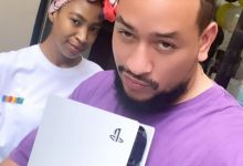 AKA Celebrates His PS5 Gift From Nelli Tembe