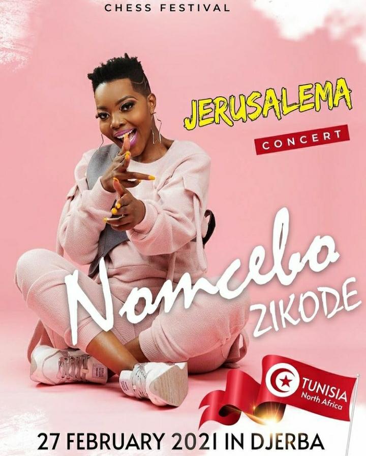 Nomcebo Zikode Takes Jerusalema Concert To Tunisia