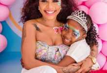 (In Pictures) Kelly Khumalo Celebrates Daughter Thingo At 7
