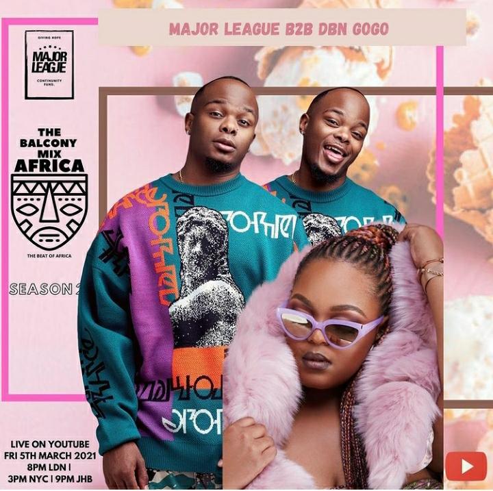 Major League Djz & DBN Gogo – Amapiano Live Balcony Mix
