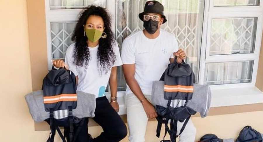 DJ Zinhle, Murdah Bongz, Maps Maponyane & Others Distribute food & Bags To The Needy At Easter