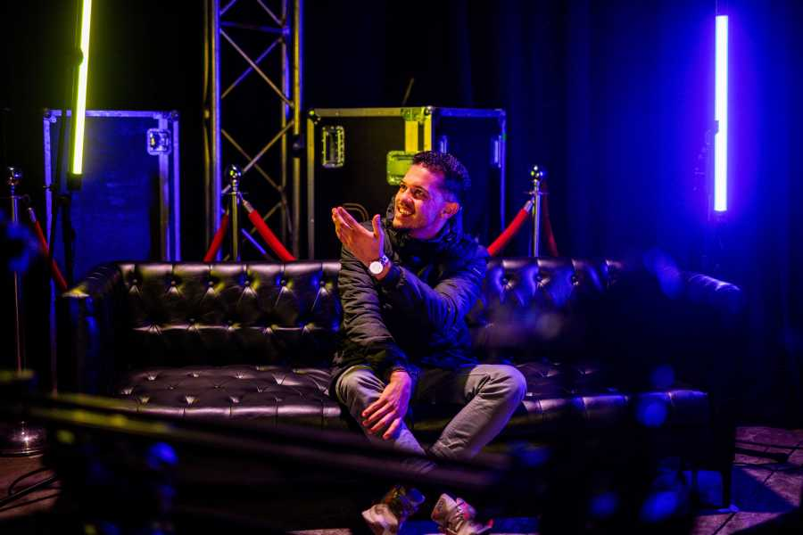 Pierre Johnson speaking to Smash Afrika on set at Vuse Inspired Live.