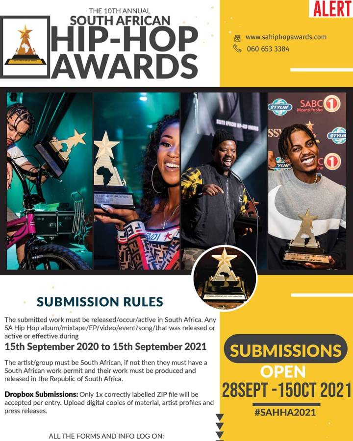 The 10th Annual SA Hip Hop Awards Submissions Open Date Announced