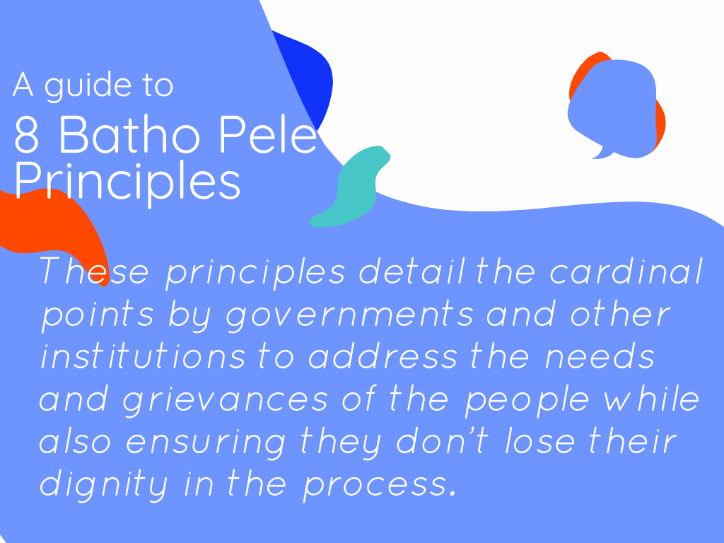 The 8 Batho Pele Principles and the Reality of Their Application